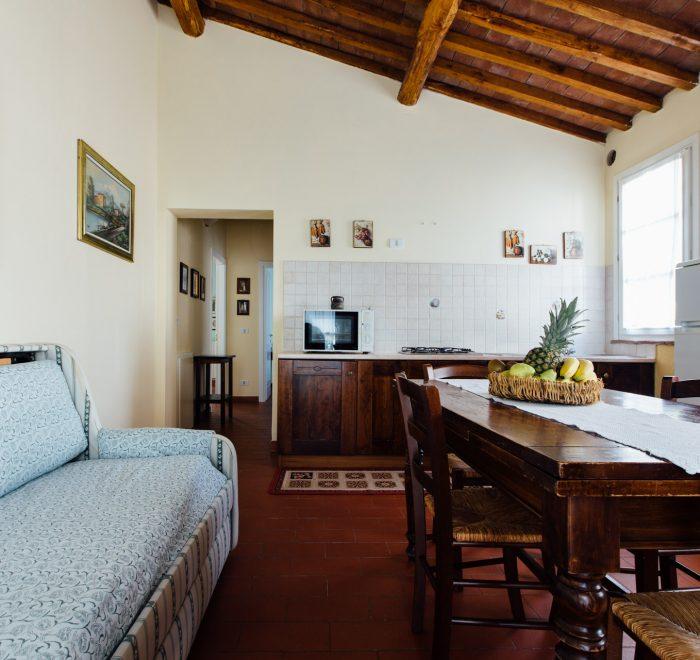 Soggiorno dell'Appartamento Albatro Agriturismo a Grosseto con Piscina - Agriturismo La Quercia vicino al Mare
